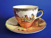 Royal Doulton 'Under the Greenwood Tree - Robin Hood'  Cup and Saucer c1950